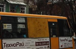 Одесские маршрутки - с фанерками вместо окон (ФОТОФАКТ)