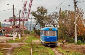 Из-за строительства дороги в селе Бурлачья Балка, один из одесских трамваев временно не ходит