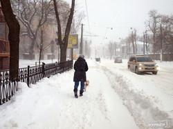 Снежная стихия парализовала одесский электротранспорт (ФОТО)