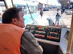 Собранный в Одессе низкопольный трамвай выехал на улицы города (ФОТО)