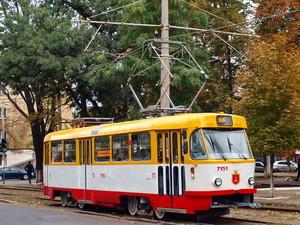 В Одессе трамвай временно поменял маршрут