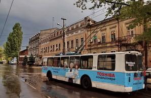 В Одессе временно изменился маршрут троллейбуса