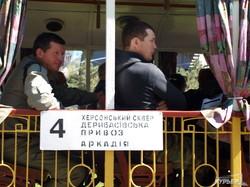 Из Аркадии по новому маршруту в центр Одессы отправился ретро-трамвай (ФОТО)