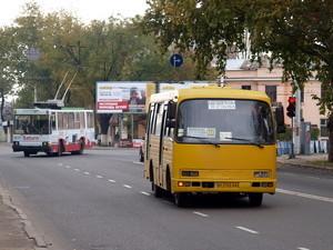 Одесская маршрутка изменит маршрут движения
