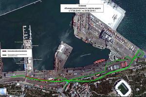 Одесский порт ремонтирует центральную дорогу