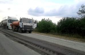 На трассе Одесса-Рени пробки: идет ремонт дорожного полотна (ФОТО)