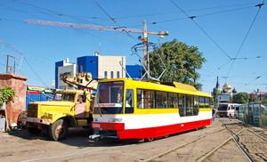 Новый одесский трамвай в цветах флага города проходит испытания (ФОТО)