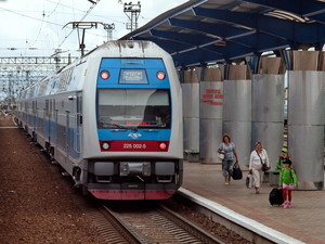 Из Киева в Харьков ходит двухэтажный поезд