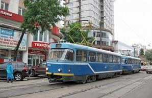 В Одессе стоят трамваи