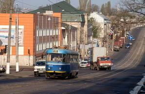 Одесскому трамваю №21 второй раз за день не повезло