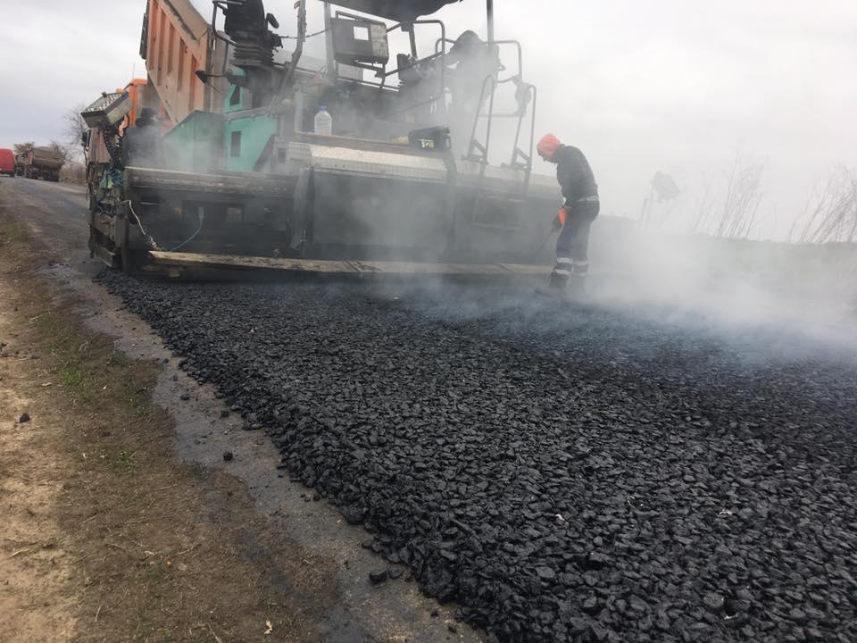 Ремонт дороги в Килийском районе