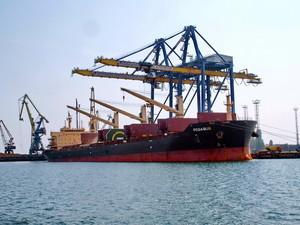За год Черноморский порт занял лидирующие позиции в Украине по перегрузке зерновых грузов
