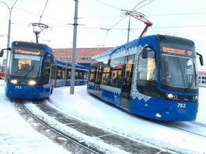 Второй польский трамвай вышел на скоростной маршрут в Киеве (ФОТО)