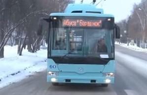 В Чернигов поступили три из десяти приобретенных троллейбусов