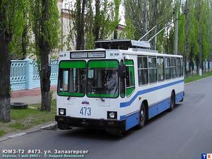 В Херсоне водители троллейбусов на митинге требуют свою зарплату