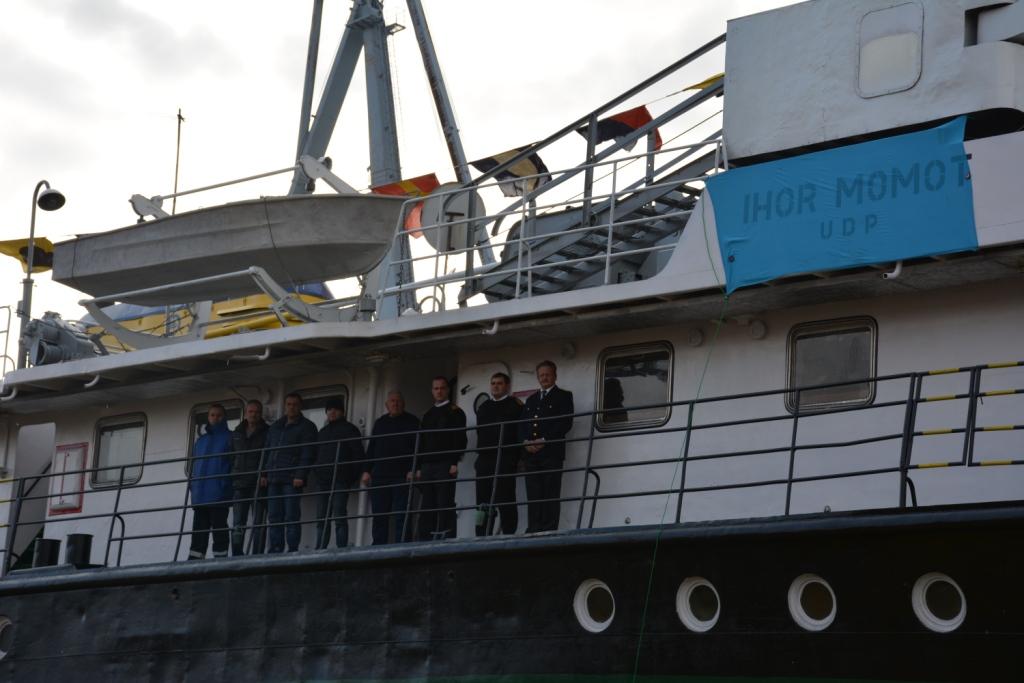 Торжественная церемония спуска судна на воду