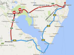 """Движение на участке трассы М-15 """"Одесса - Рени"""" возле с. Паланка закрыто до лета"""