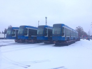 В Киев привезли все десять польских низкопольных трамваев (ФОТО)