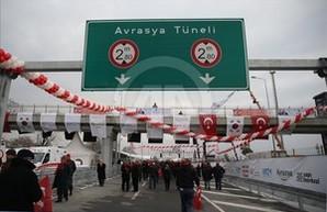 В Турции открыли автомобильный тоннель под Босфором