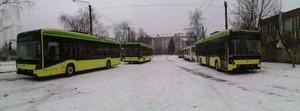 """25 декабря во Львов поставили последнюю партию троллейбусов """"Электрон Т19102"""""""