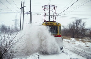 Как одесские трамвайщики со снегом боролись (ФОТО)