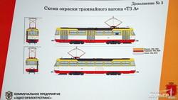Одесские трамваи и троллейбусы начинают красить по европейским технологиям (ФОТО)
