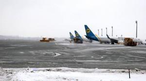 """Аэропорт """"Борисполь"""" меняет расписание рейсов из-за ледяного дождя"""