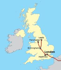 В Великобритании построят высокоскоростную железнодорожную линию HS2
