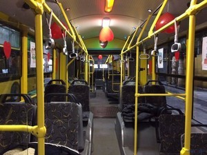 Общественный транспорт Киева будет тематически украшен ко Дню Святого Валентина