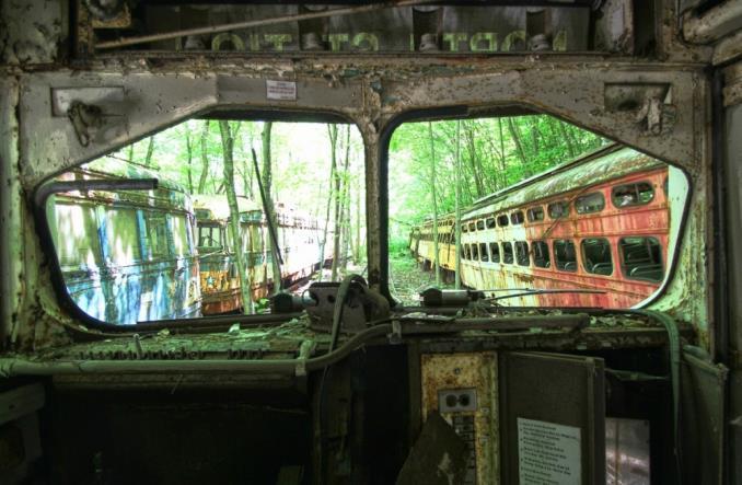 Кладбище трамваев в США