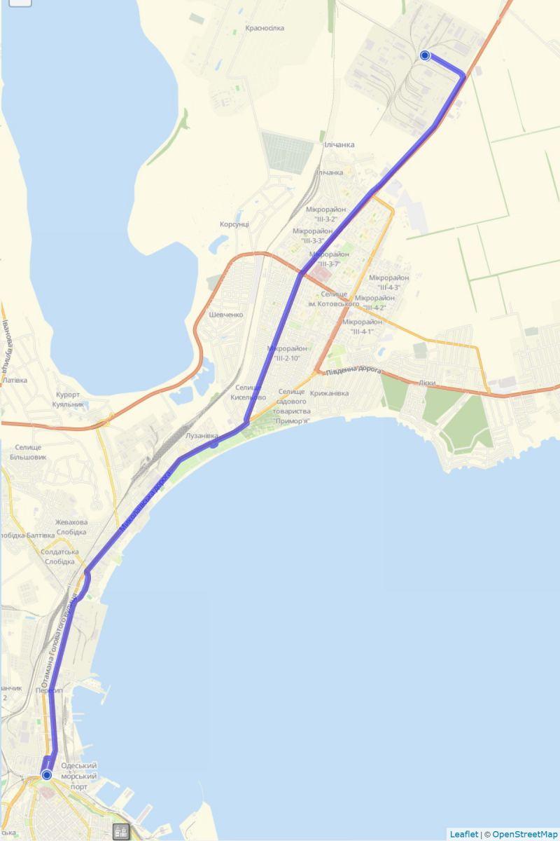 маршрут №1 одесского трамвая