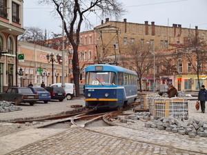 Одесские трамваи две недели не будут ходить в центре города на Тираспольской площади