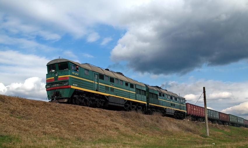 Грузовое поезд около Арциза