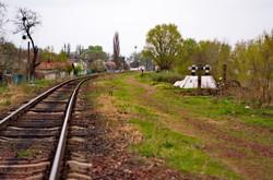 Путь между станциями Рени и Рени-Наливная, ранее параллельно ему проходил еще один путь - европейской колеи 1435 мм