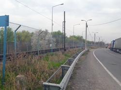 За забором - железная дорога на Галац, это уже в Румынии