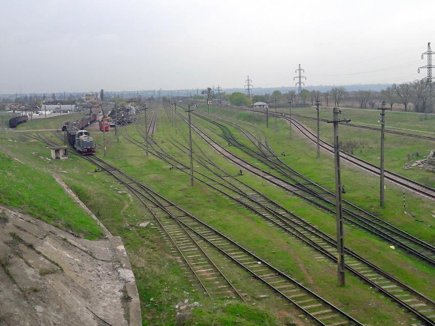 Станция Галац-Широкая колеи 1520 мм на территории Румынии