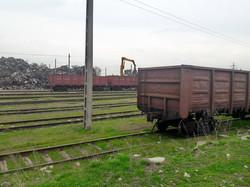 Погрузка металлолома в молдавские вагоны на широкой колее в Галаце