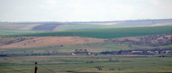 Панорама разобранной железной дороги в долине речки Когильник и уцелевший мост