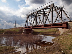 Мост через речку Чага около Арциза