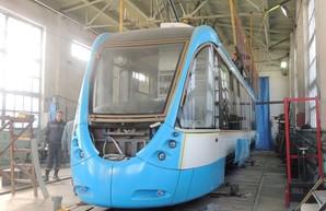 В Виннице построили второй одиночный низкопольный трамвай (ФОТО)