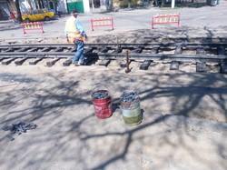 Как ремонтируют трамвайные пути в Николаеве (ФОТО)