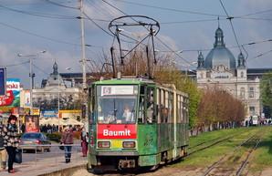 Во Львове закрыли на ремонт линию трамвая к вокзалу
