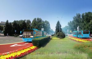В бывшей столице Казахстана начинают строить дороги для скоростного автобуса