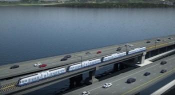 В США строят железную дорогу на понтонном мосту