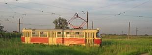 """Фото дня: конечная одесского """"камышового"""" трамвая у лимана"""
