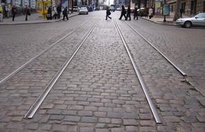 Фото дня: последний остаток узкоколейного трамвая в центре Одессы