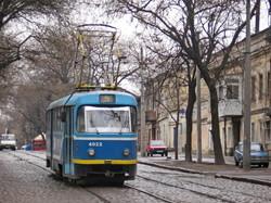 Фото дня: одесский трамвай на Молдаванке по улице Колонтаевской