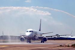 Как в Одессе новый авиарейс из Польши встречали (ФОТО)