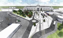Как во Львове будут реконструировать Дворцовую площадь у вокзала (ФОТО)