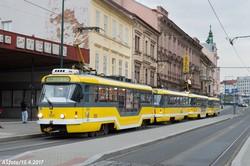 Фото дня: как в Чехии ходят трамвайные составы по четыре вагона